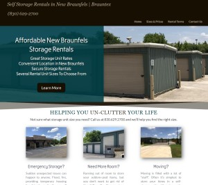 Website Created For Storage Unit Company New Braunfels