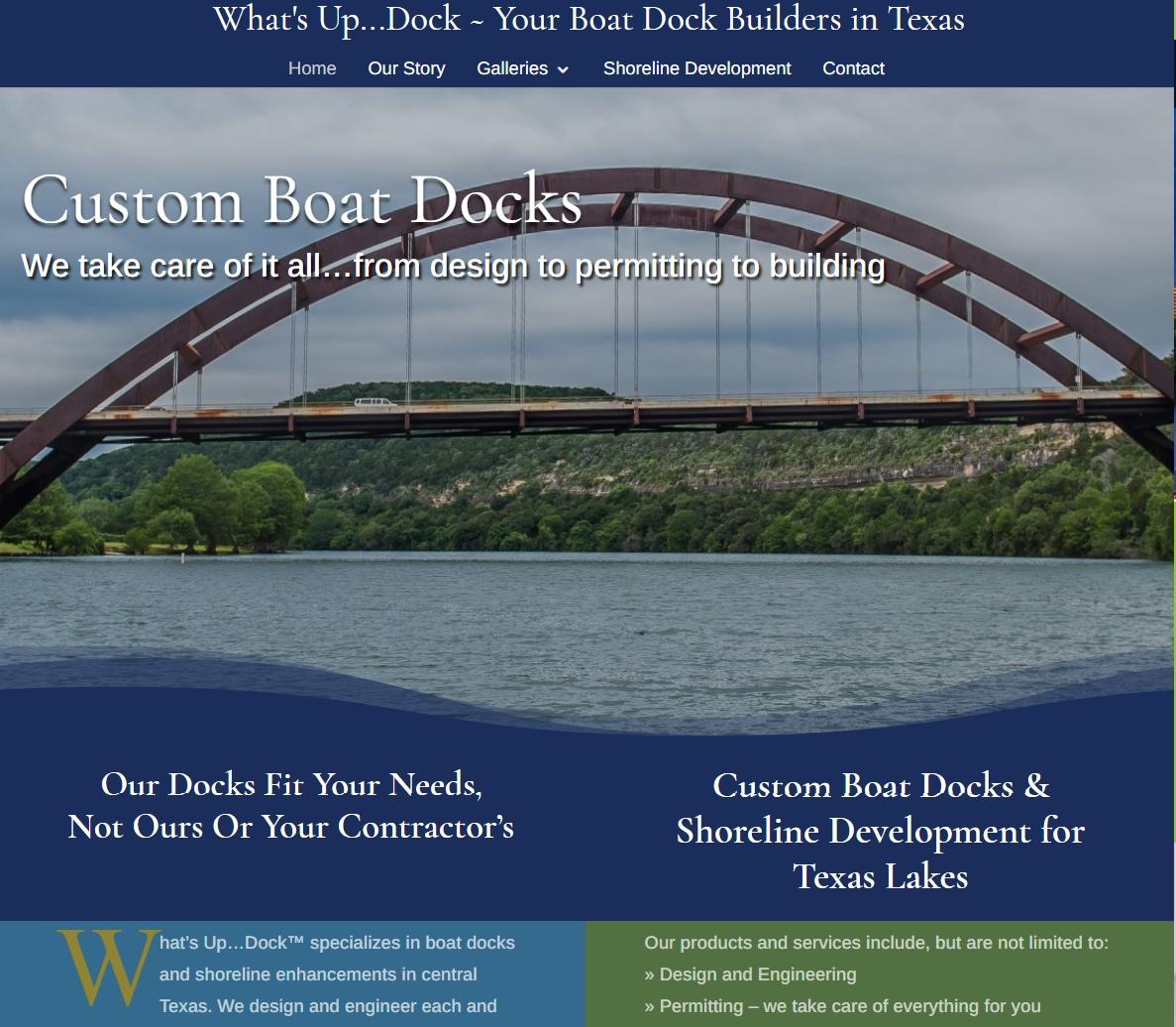 Boat Dock Builder Website Design