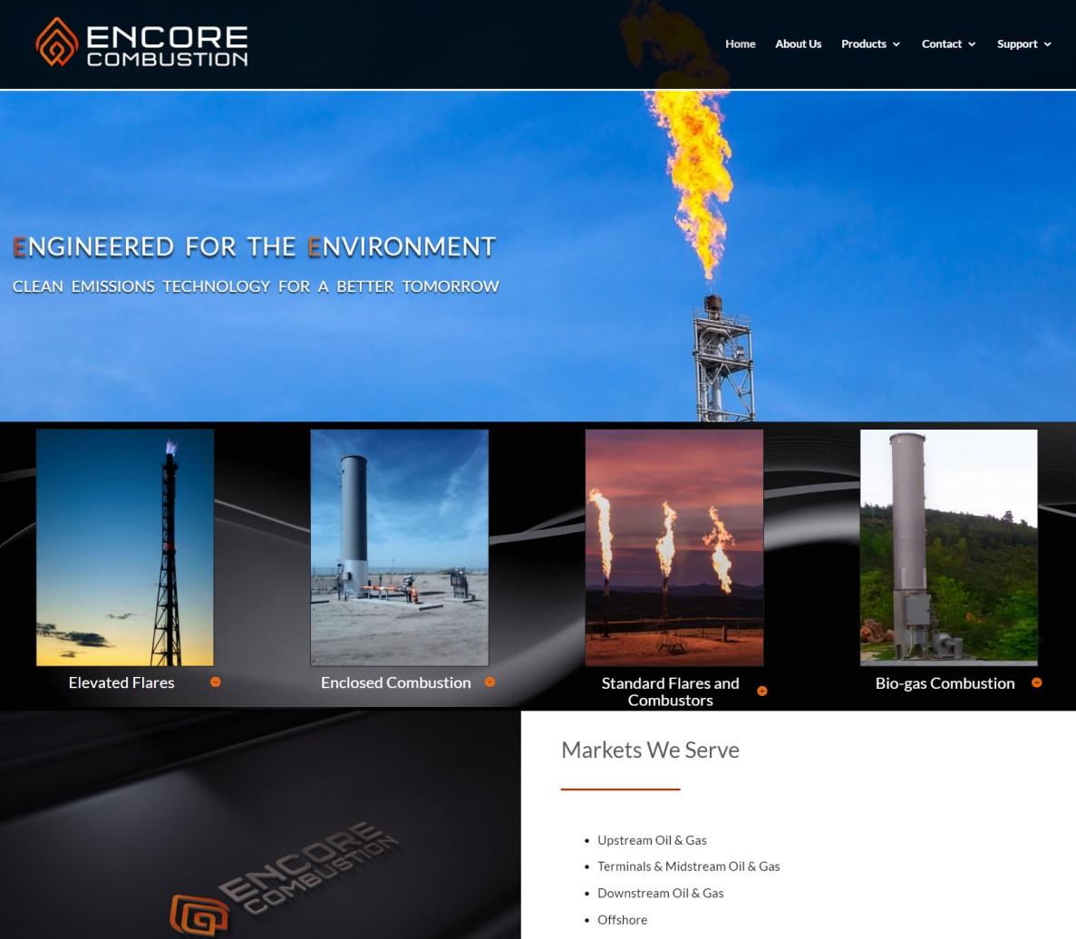 Encore Combustion Website Design