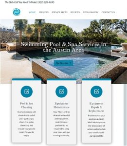 Custom Website For Pool Cleaning Services