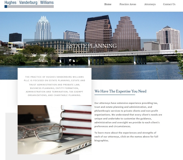 Website Designed for Law Firm in Texas