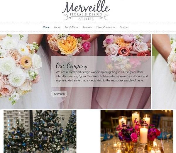 Website Created for Wedding Floral Design