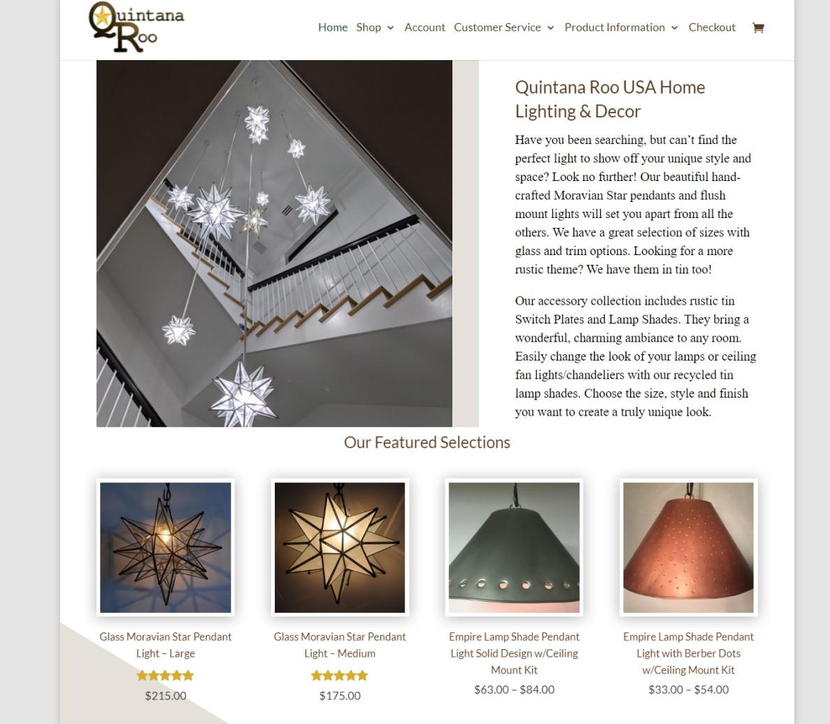 Custom E-Commerce Website for Quintana Roo USA