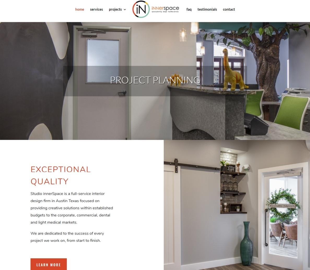 Website Designed for Studio Innerspace